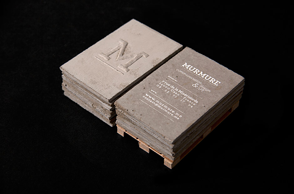Murmure - Project - Concrete business cards