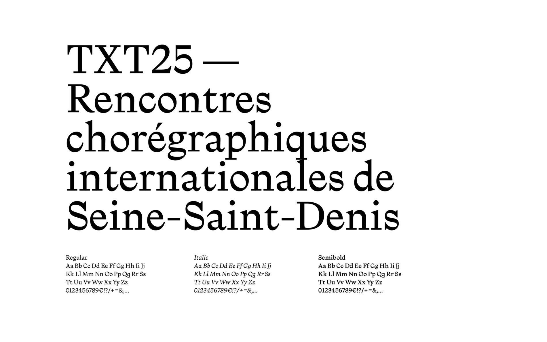 Illustration of the project Rencontres chorégraphiques
